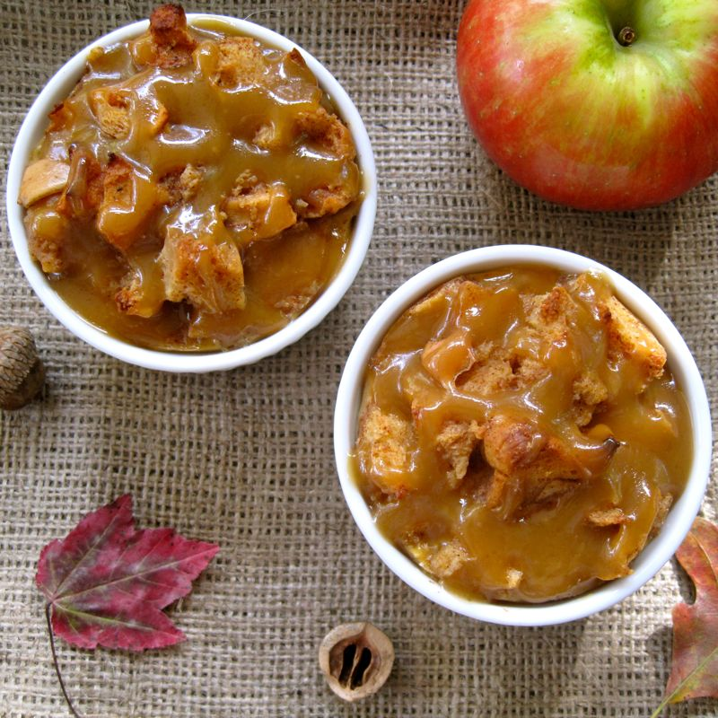 Harvest Apple Bread Pudding with a Salted Maple-Caramel ...