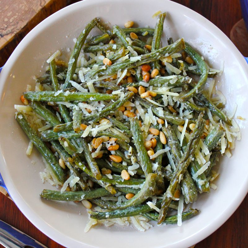 Roasted Green Beans with Garlic, Pine Nuts & Parmigiano ...