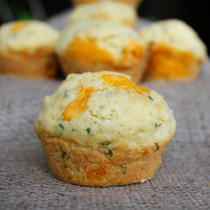 Cheddar Rosemary Corn Muffins Recipe — Dishmaps