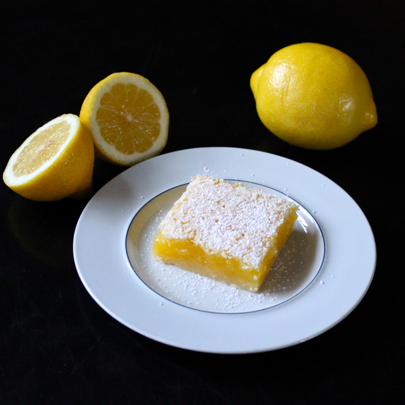 Luscious Lemon Squares for my Valentine