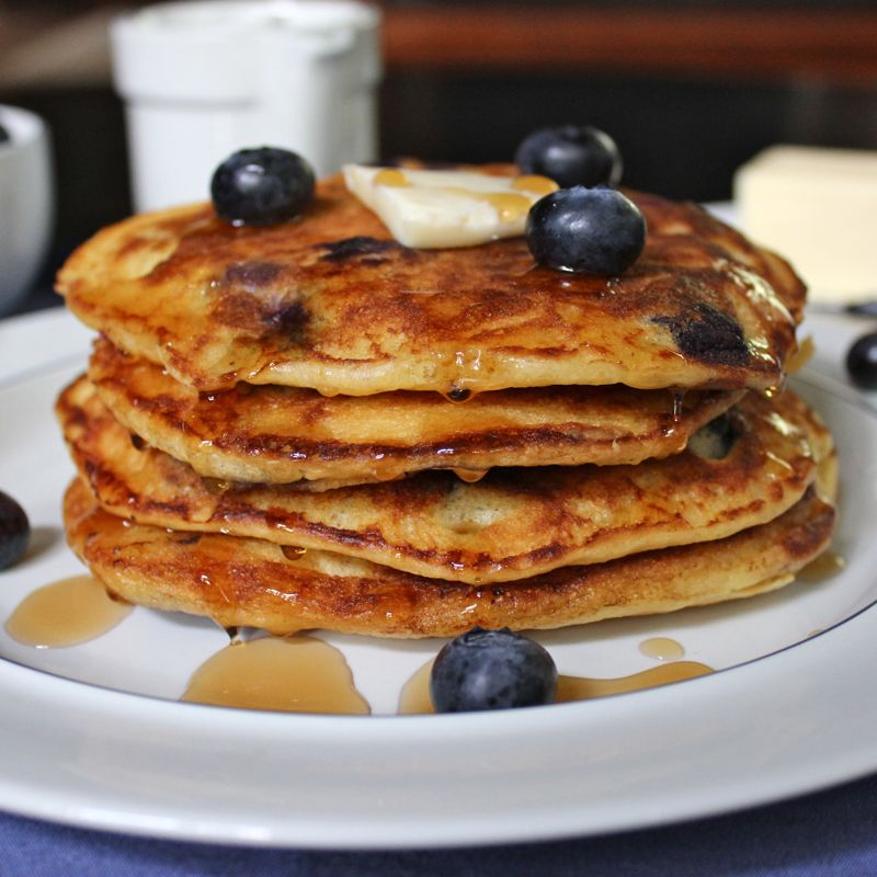 Blueberry Buttermilk Cornmeal Pancakes | Lea & Jay