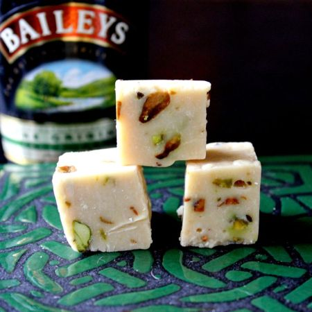 Bailey's Irish Creme & Pistachio Fudge