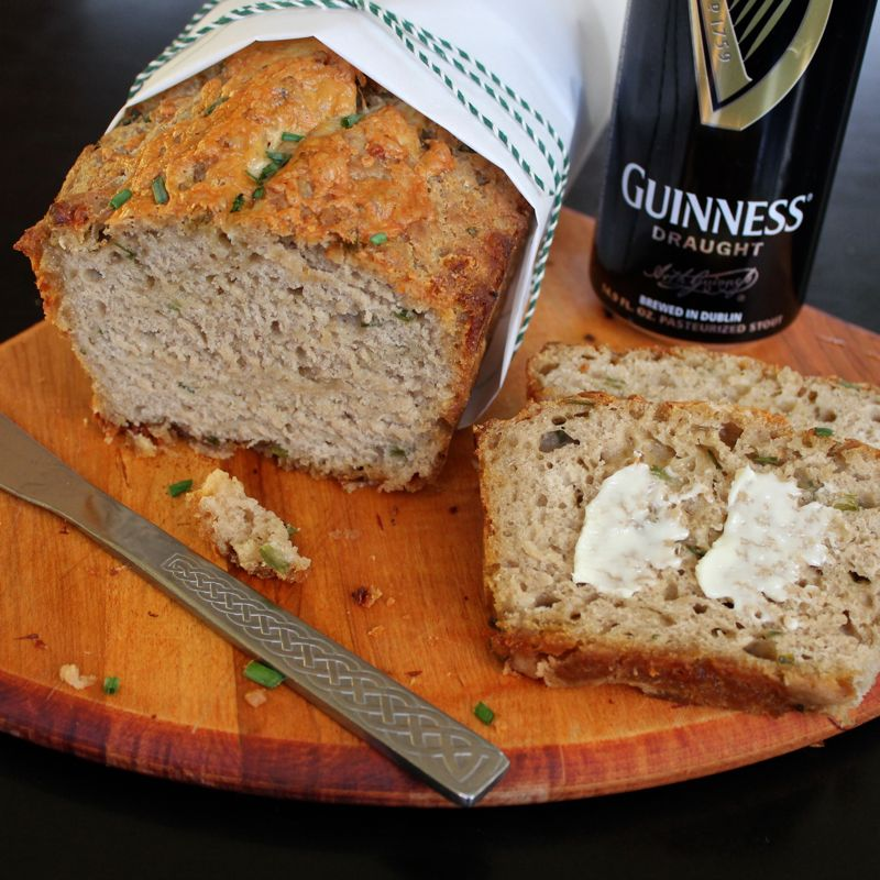 Cheddar & Chive Guinness Bread | Lea & Jay