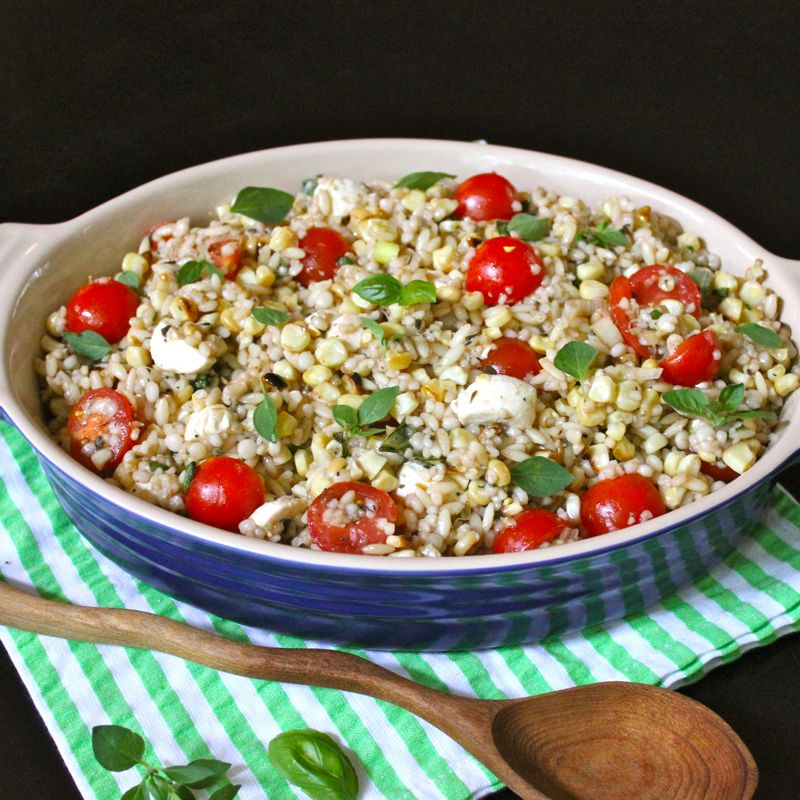 Israeli Couscous & Orzo Salad with Fresh Mozzarella, Corn ...