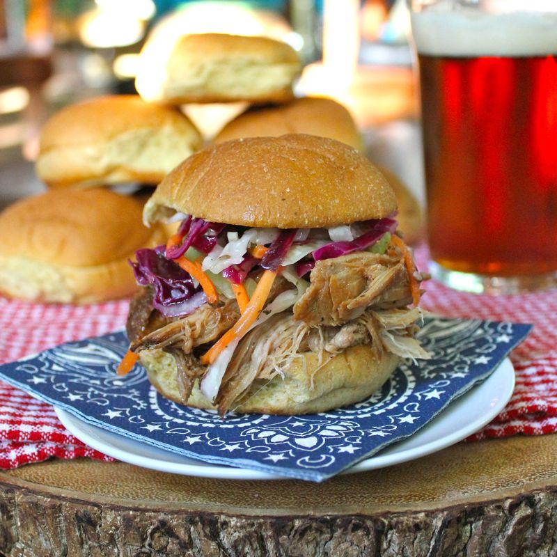 North Carolina Style Pulled Pork Sliders Lea  Jay