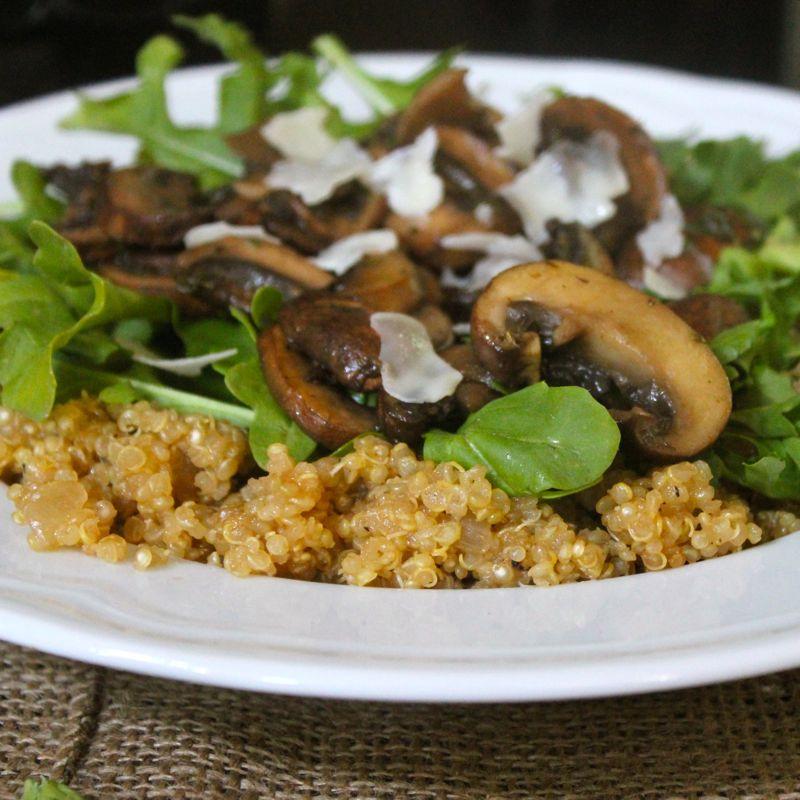 Thyme Mushroom Quinoa Risotto | Lea & Jay