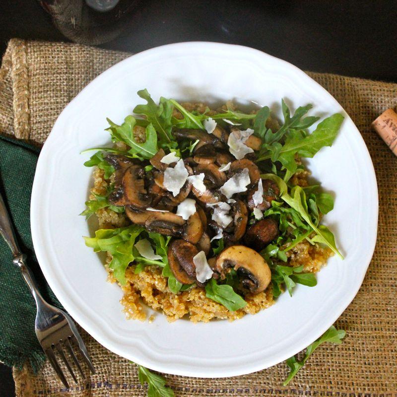 Thyme Mushroom Quinoa Risotto   Lea & Jay