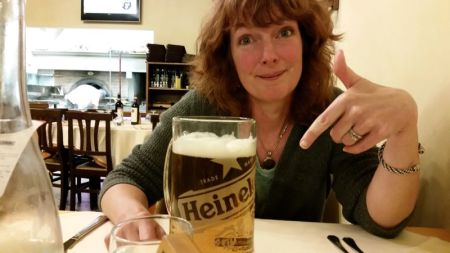 Now that is one big beer!