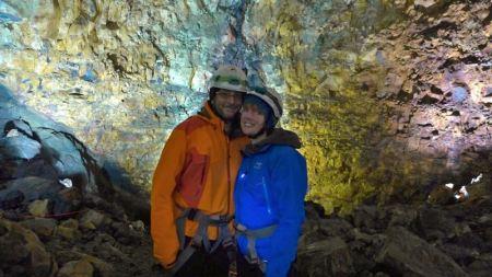 Jay & Lea inside volcano 2