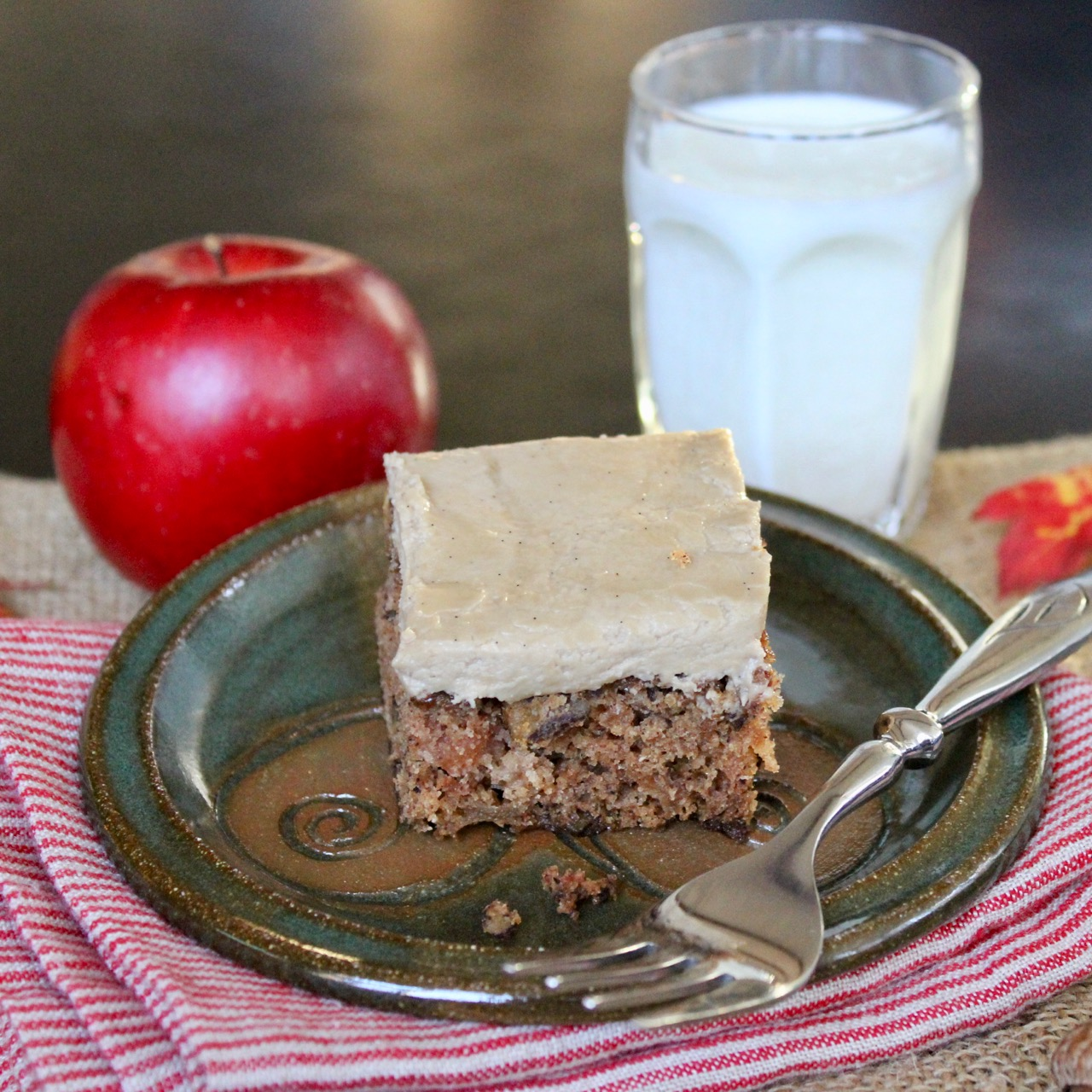 Old Fashioned Apple Cake With Brown Sugar Frosting Lea Jay