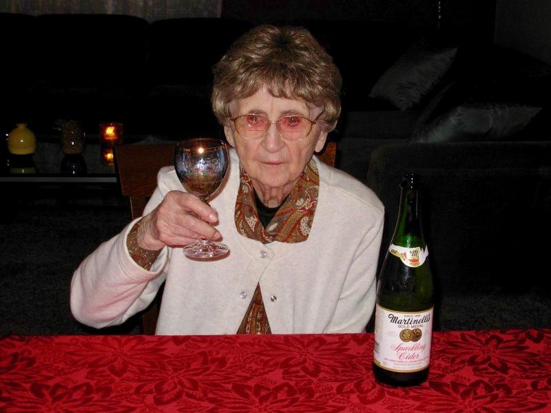 Cecelia toasting us all (1)